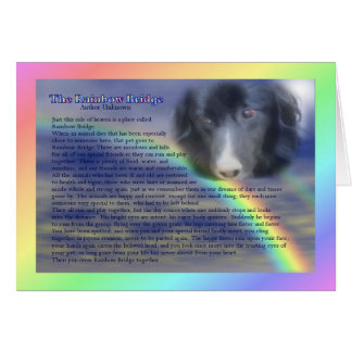 Rainbow Bridge Poem Pet Loss Sympathy Card