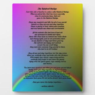 Rainbow Bridge Poem Plaque