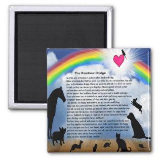 Rainbow Bridge Poem Square Magnet