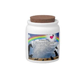 Rainbow Bridge Poem Candy Jar
