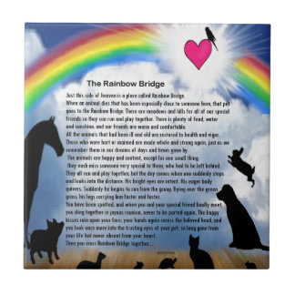Rainbow Bridge Poem Tile