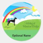 Rainbow Bridge Round Sticker