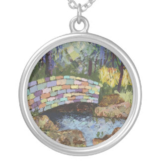 Rainbow Bridge Silver Plated Necklace