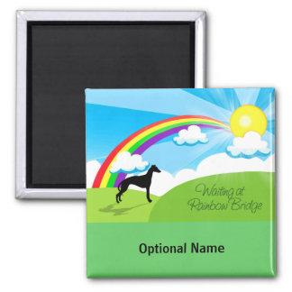 Rainbow Bridge Square Magnet