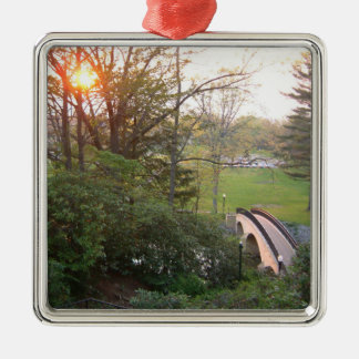Rainbow Bridge Sunset at Grove City College Christmas Ornament