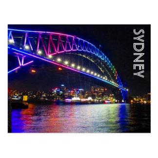 rainbow bridge sydney postcard