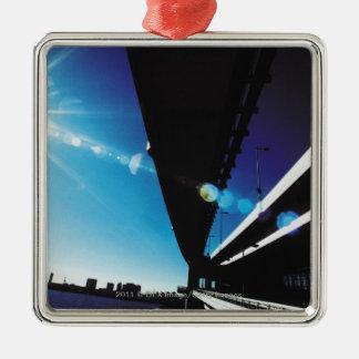 Rainbow Bridge, Tokyo Silver-Colored Square Decoration