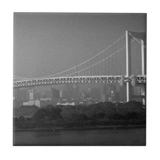 Rainbow Bridge Tokyo Tile