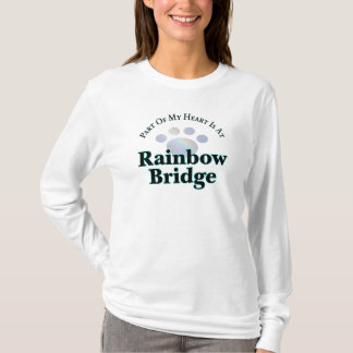 Rainbow Bridge With Paw Long Sleeve Tee For Women