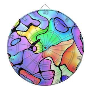 Rainbow Bright Art Dartboard