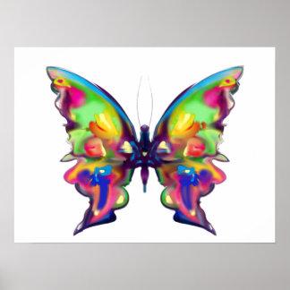 Rainbow Bright Pretty Butterfly Print