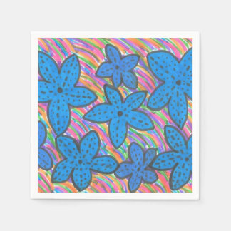 Rainbow Bright Starfish Paper Napkins Disposable Napkin
