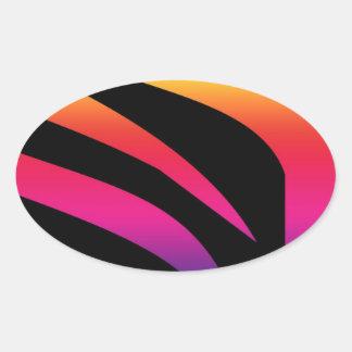 rainbow bright zebra print striped design stickers