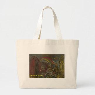 rainbow brite large tote bag