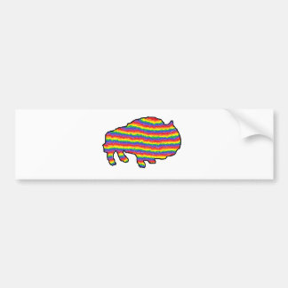 rainbow bruce bumper sticker