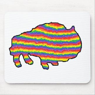 rainbow bruce mouse pad