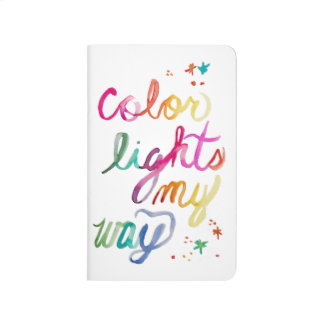 Rainbow Brush Lettering Watercolor Art Bright Fun Journal