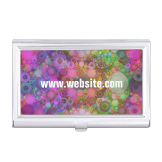 Rainbow Bubble Abstract Business Card Holder