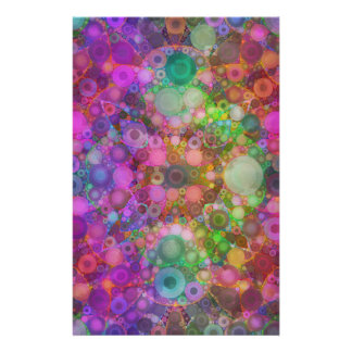 Rainbow Bubble Abstract Stationery