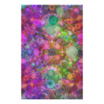 Rainbow Bubble Abstract Stationery Paper