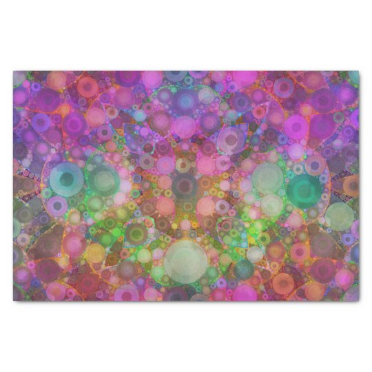 Rainbow Bubble Abstract Tissue Paper