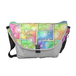 Rainbow Bubble Messenger Bag