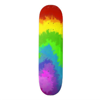Rainbow Bubble Paint Skate Boards