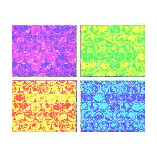 Rainbow bubble wrap pop art canvas print