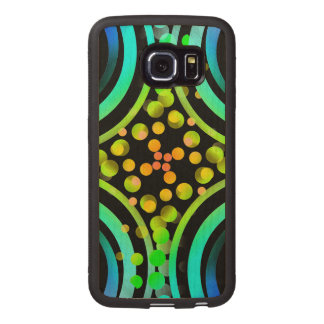 Rainbow Bubbles Color Field Bright Beautiful Vivid Wood Phone Case