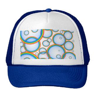 Rainbow bubbles mesh hats