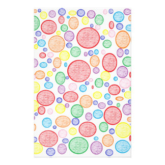 Rainbow Bubbles Lightened Stationery