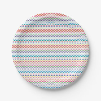 Rainbow Bubbles 7 Inch Paper Plate