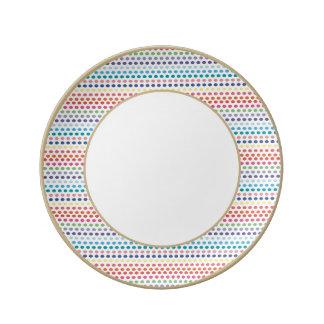 Rainbow Bubbles Porcelain Plates