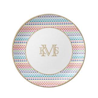 Rainbow Bubbles Porcelain Plate