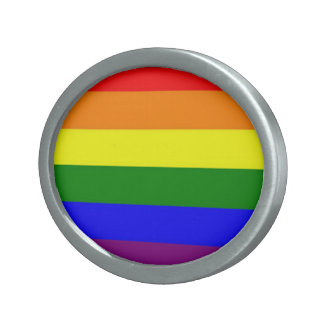 Rainbow buckle oval belt buckles