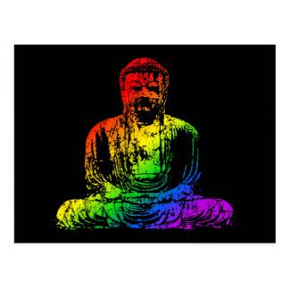 Rainbow Buddha Statue Postcard