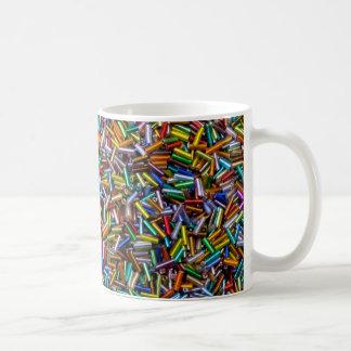 Rainbow Bugle Beads Coffee Mug