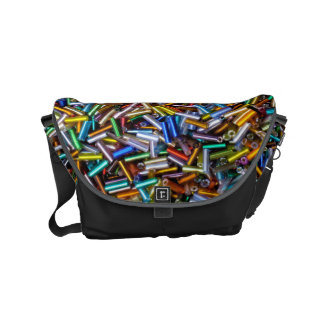 Rainbow Bugle Beads Messenger Bags