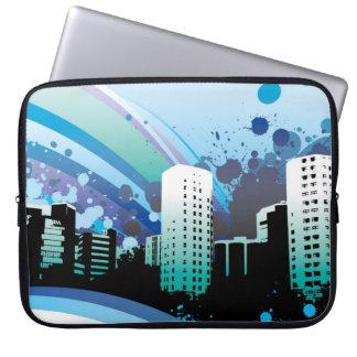 rainbow_building_paint laptop sleeve