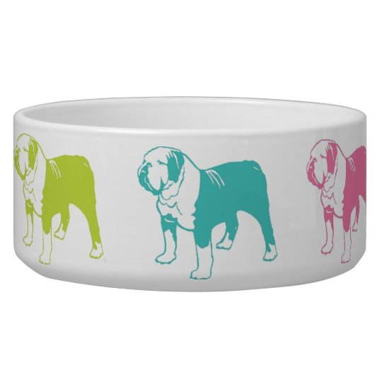 Rainbow Bulldog bowl Dog Bowls