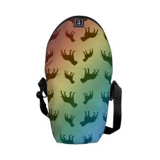 Rainbow bulldog pattern commuter bag