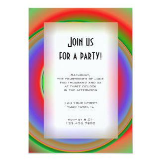 Rainbow Bullseye All Purpose Party Invitation