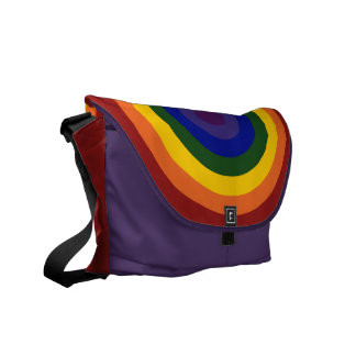 Rainbow Bullseye Messenger Bags