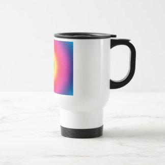 Rainbow Bullseye Tye-Dye Look Coffee Mug