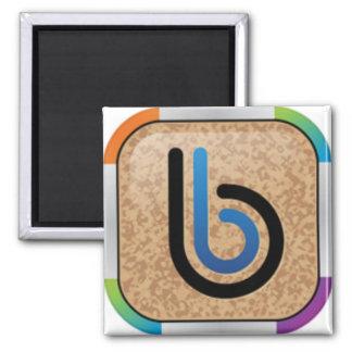Rainbow Bullytin Board Logo Square Magnet