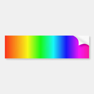 Rainbow bumpersticker bumper sticker