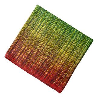 Rainbow Burlap Tweed Wool Jute Bandana