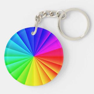 Rainbow Burst Acrylic Keychain