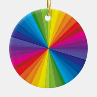 Rainbow Burst Christmas Ornament