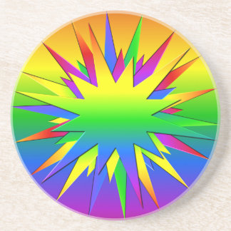 Rainbow Burst coaster, customize Coaster